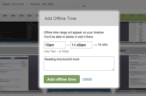Offline time