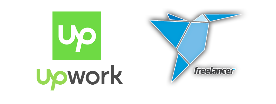 upwork and freelancer logo